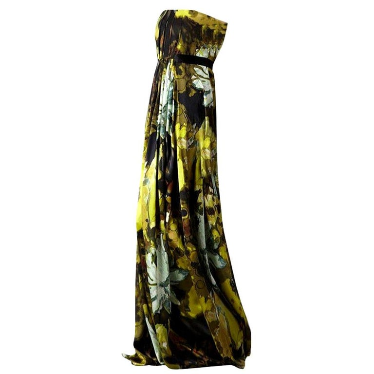 New Badgley Mischka Couture Evening Dress Gown Sz 6 For Sale