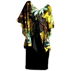 New Badgley Mischka New Couture Silk Cocktail Dress Sz 4