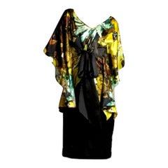 New Badgley Mischka New Couture Silk Cocktail Dress Sz 8