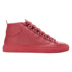 new BALENCIAGA Arena All Red high top sneakers EU40 US7 483497 WAY40 6212