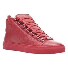 new BALENCIAGA Arena All Red high top sneakers EU41 US8 483497 WAY40 6212