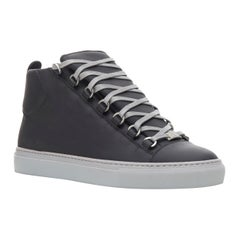 new BALENCIAGA Arena Black Grey high top sneakers EU41 US8 341760 WAWK0 1000