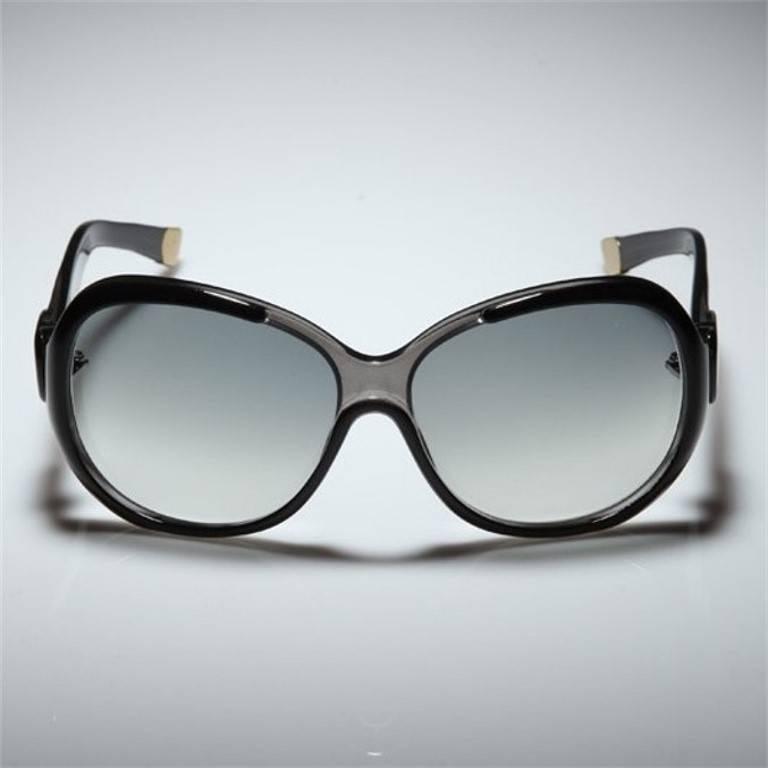 Women's New Balenciaga Black Reflective Sunglasses With Case For Sale