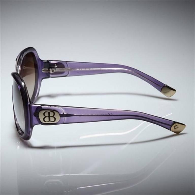 Women's New Balenciaga Purple Reflective Sunglasses With Case For Sale