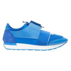new BALENCIAGA Race Runner cobalt blue low sneakers EU42 US9 506328 W0YXS 4307