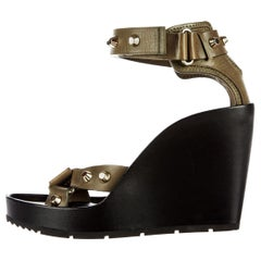 New Balenciaga Studded Platform Wedge Heels Sz 37.5