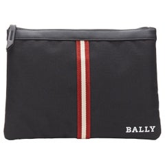 new BALLY Signature web canvas pouch eye mask neck pillow travel flight set