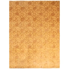 New Bamboo Gold and Brown Wool Rug