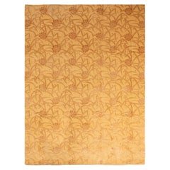 New Bamboo in Wool Gold and Brown Floral Rug