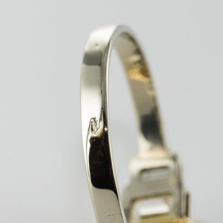 Art Deco Style Yellow Ceylon Sapphire Diamonds Ring For Sale 12