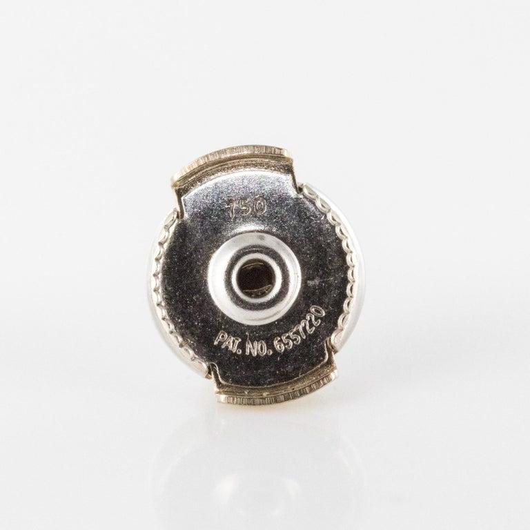 Baume Jade Diamonds 18 Karat White Gold Dangle Earrings For Sale 11