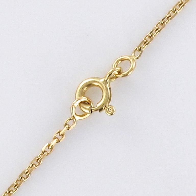 Baume Opal Emerald Diamond 18 Karat Yellow Gold Necklace For Sale 7
