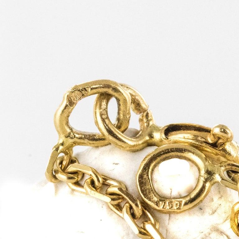 Baume Opal Emerald Diamond 18 Karat Yellow Gold Necklace For Sale 8