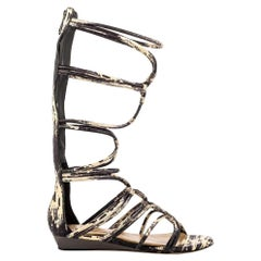 NEW BCBGMaxazria Brixton Leather Gladiator Flat Sandals size US 7