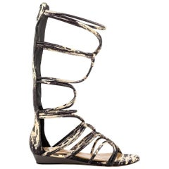 NEW BCBGMaxazria Brixton Leather Gladiator Flat Sandals size US 7.5