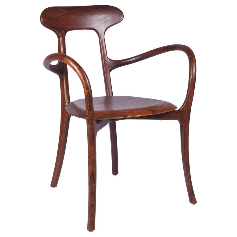 New Bentwood Armchair with Wood Seat and Back For Sale