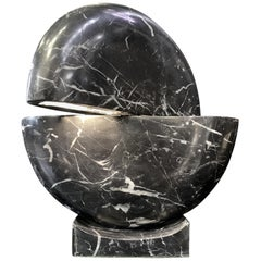 New Black Marble Table Lamp with Base
