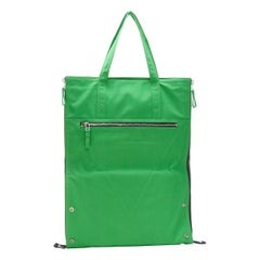 NEW BOTTEGA VENETA 2021 Runway Presentation extra large green canvas tote bag