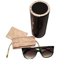 New Bulgari Emerald Sunglasses With Case