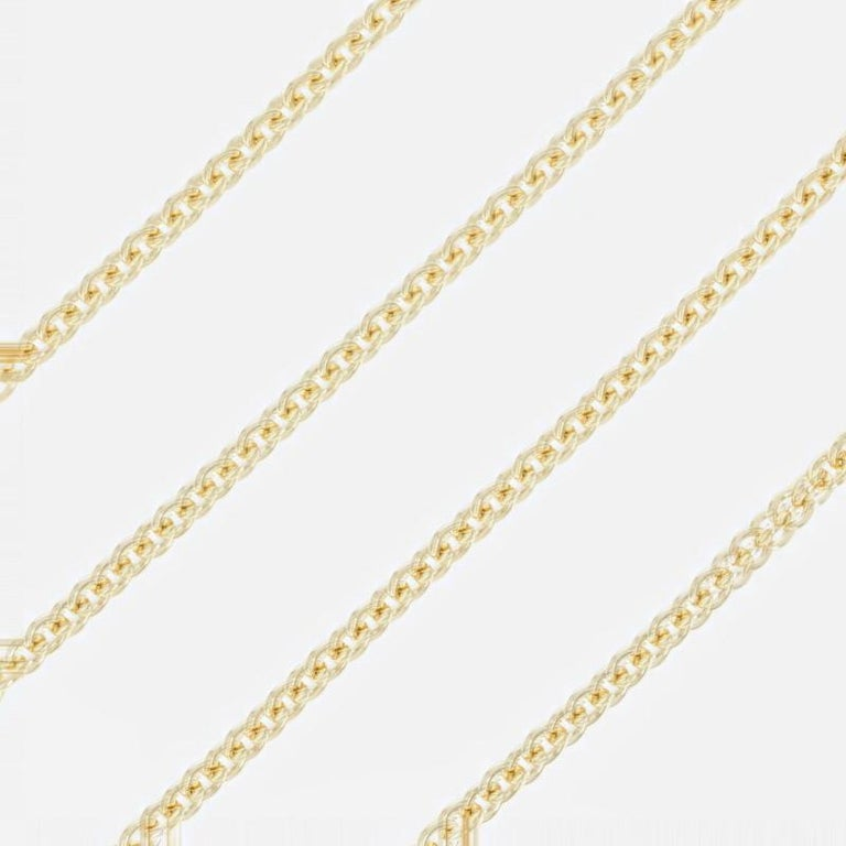 Endless style possibilities await you with this radiant NEW necklace! Crafted in Italy of high purity 18k yellow gold, this piece showcases a classic cable chain design that will look stunning worn solo, graced by a treasured pendant, or layered