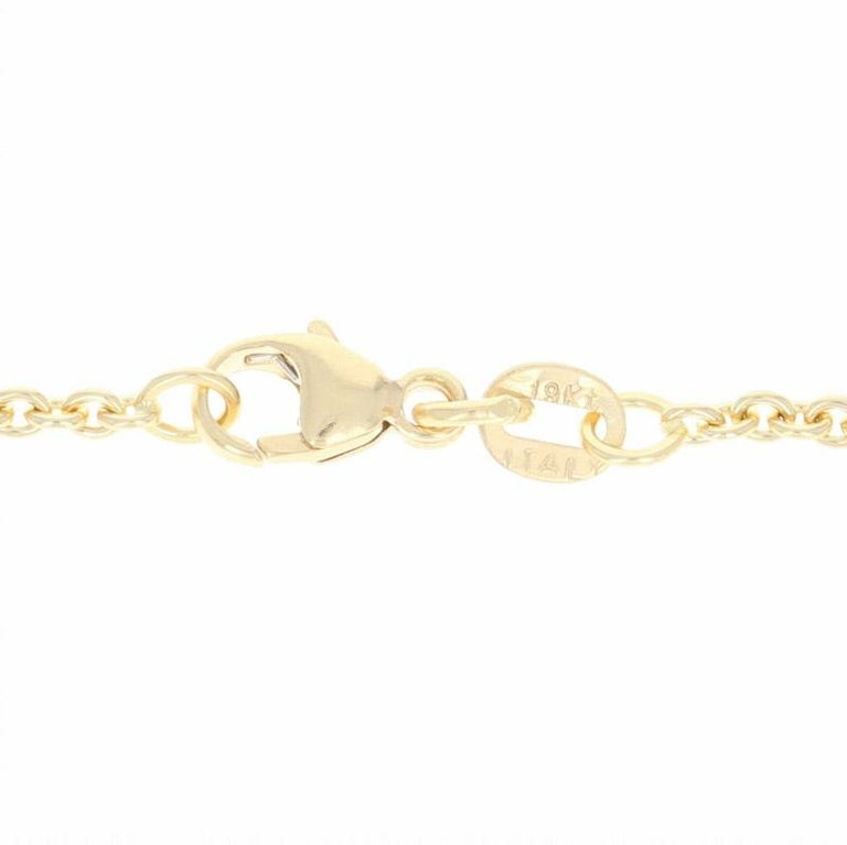 Cable Chain Necklace, 18 Karat Yellow Gold Lobster Claw Clasp, Italy In New Condition For Sale In Greensboro, NC
