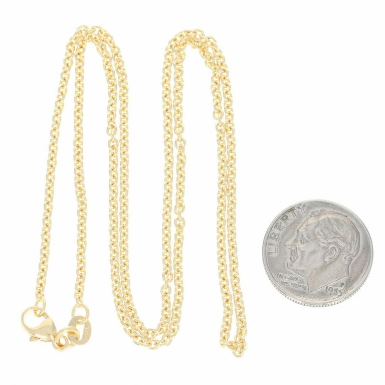 Cable Chain Necklace, 18 Karat Yellow Gold Lobster Claw Clasp, Italy For Sale 1