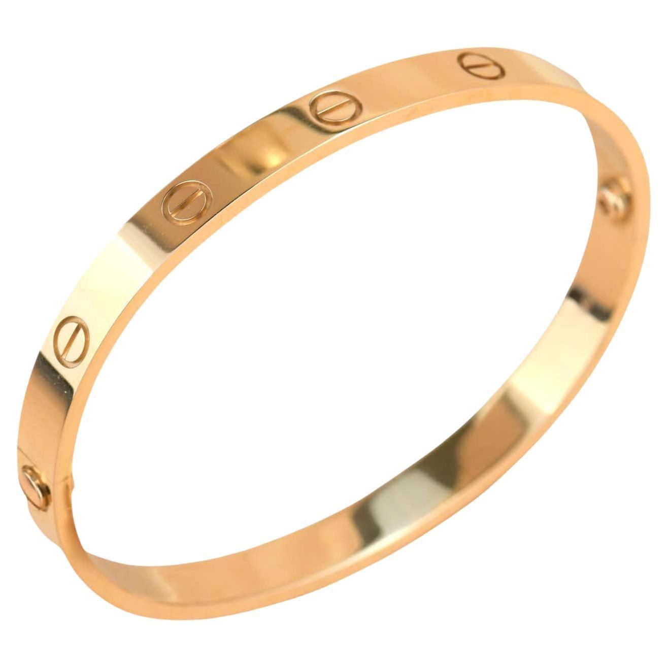 New Cartier Love 18K Rose Gold Bracelet