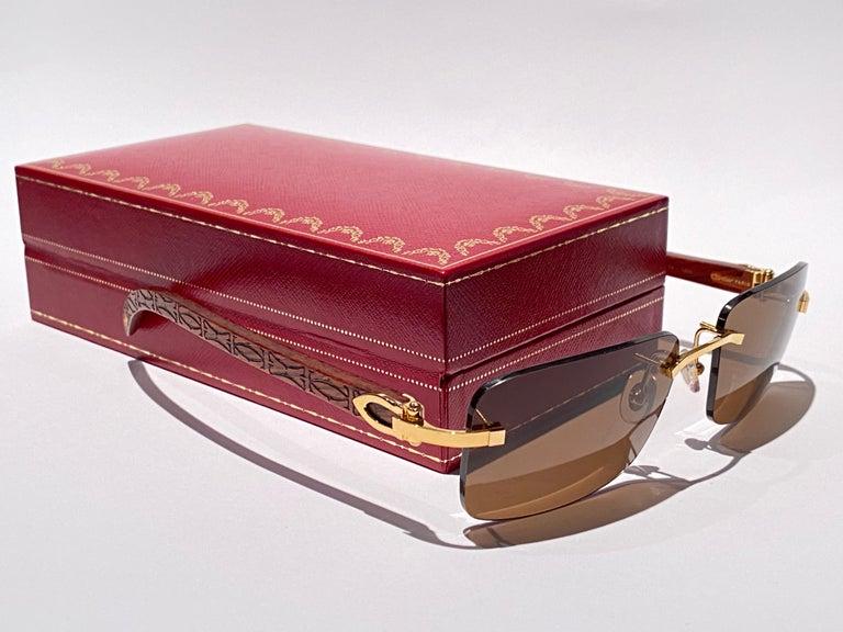 New Original Cartier Sunglasses with carved