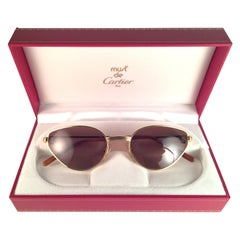 New Cartier Rivoli Vendome 54mm Cat Eye Sunglasses 18k Heavy Plated France