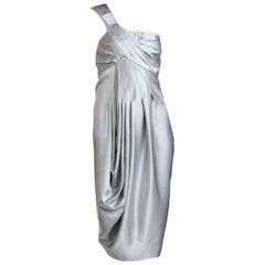 New Catherine Malandrino Black Label Silk Cocktail Dress Sz 38
