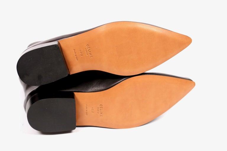 new CELINE by Phoebe Philo Santiago black leather ankle boots FR 40.5 For Sale 2