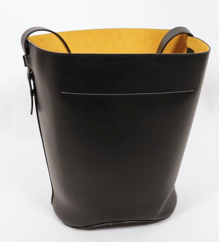 Black new CELINE Phoebe Philo black leather biker bag with silver grommets  For Sale