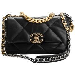 New Chanel Black 19 Bag Rare