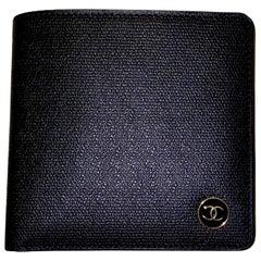 NEW Chanel Black CC Logo Flap Wallet - Full Set with Box & Card