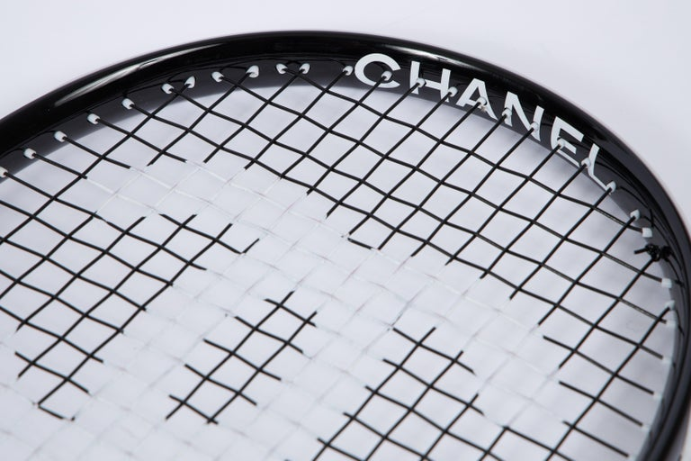 New Chanel Black Tennis Racquet with Cover For Sale 2