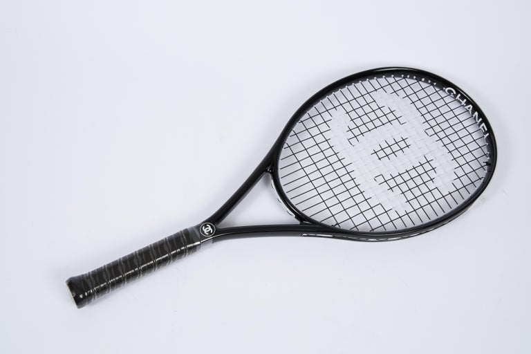 New Chanel Black Tennis Racquet with Cover For Sale 3