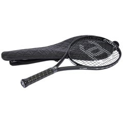 New Chanel Black Tennis Racquet with Cover