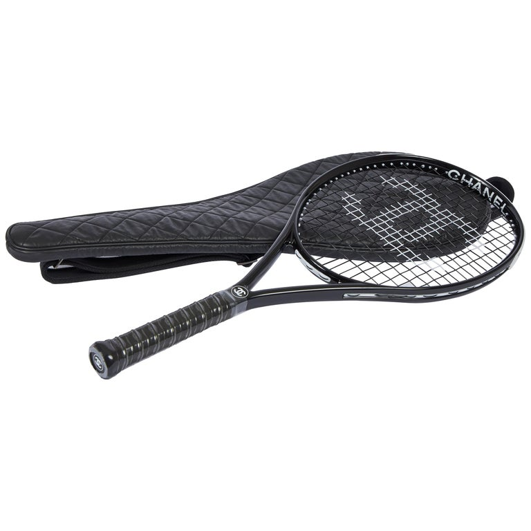 New Chanel Black Tennis Racquet with Cover For Sale