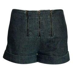 NEW Chanel Blue Denim Jeans Hot Pants Shorts