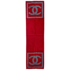 NEW Chanel CC Logo Signature Double Face Terry Cloth Beach Pool Sport Towel