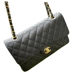 NEW Chanel Classic Medium Flap - Black Caviar Gold Hardware