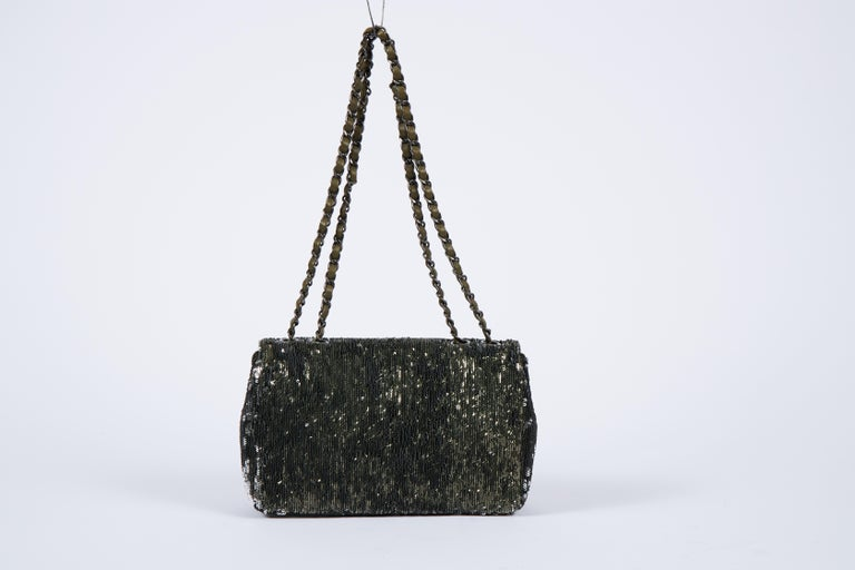 Black New Chanel Coco Cuba Green Flap Bag For Sale