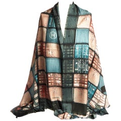 New Chanel Containers Rust Silk Shawl