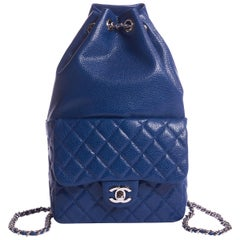 New Chanel Electric Blue Caviar Backpack