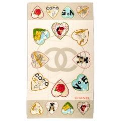 New Chanel Heart Logo Beach Towel