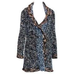 NEW Chanel Lesage Fringed Fantasy Tweed Jacket Blazer Coat Cardigan
