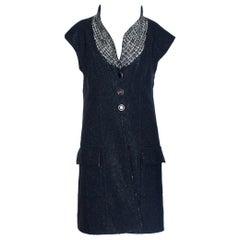 NEW Chanel Lesage Metallic Tweed Long Gilet Vest Jacket Dress Coat Dress