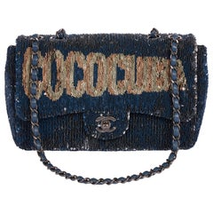New Chanel Mint Coco Cuba Sequins Bag Blue in Box