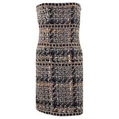 NEW Chanel Multicolor Lesage Metallic Braided Fantasy Tweed Dress