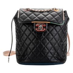 New Chanel Multicolor Quilted Backpack